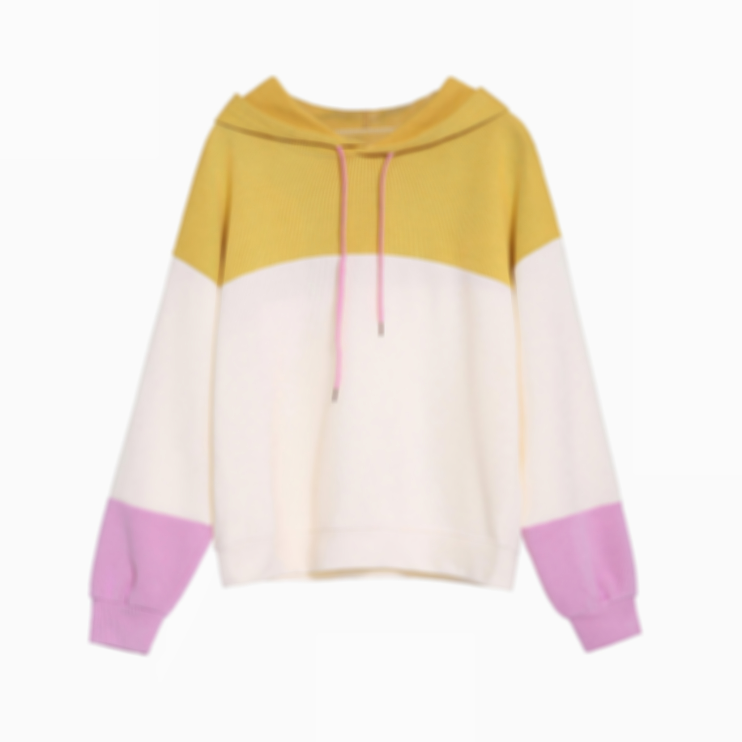 Street Colorblock Sweatshirt with Drawstring