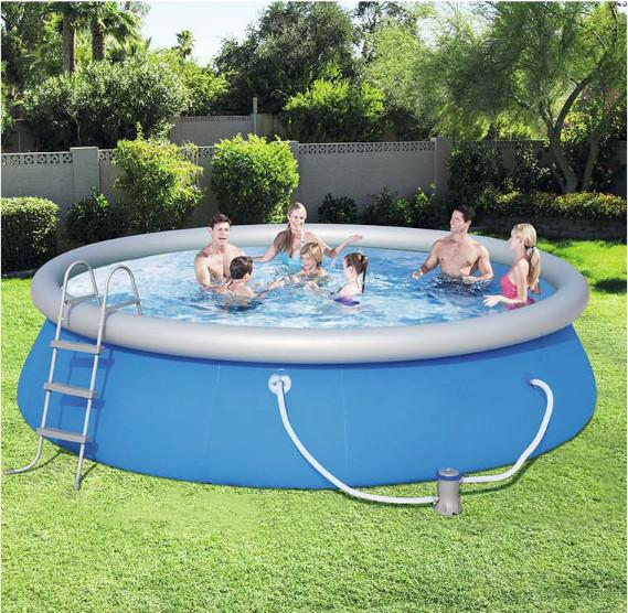 2020 New-Updated Summer 12 ft x 36 in Easy Set Pool Set with Air Pump
