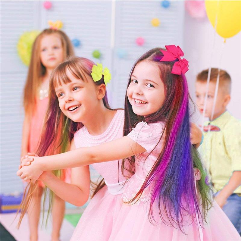 12 Colors Temporary Hair Chalk for Kids Washable Non-Toxic