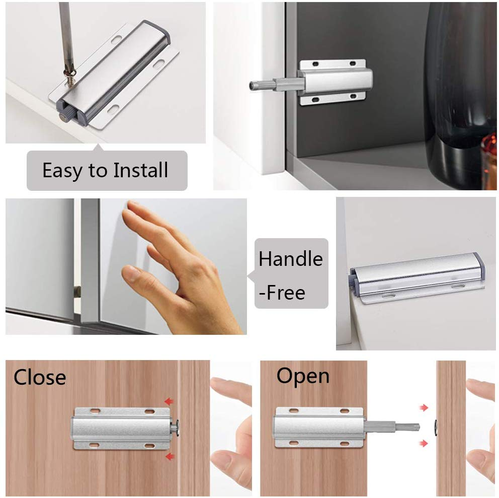 Magnetic Push to Open Latch with Screws
