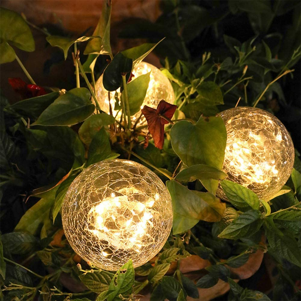 🌟SOLAR LED GLASS BALL HOLIDAY LAWN LIGHTS🎅