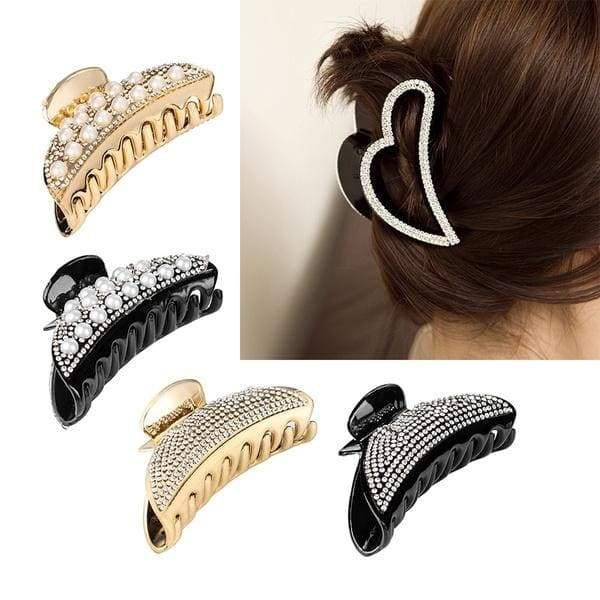 1PC Elegant Crystal Hair Claw Simple Fashion Crab Clips Barrette Ladies Make Up Bun Maker Hairpins Ponytail Shower Hairgrips