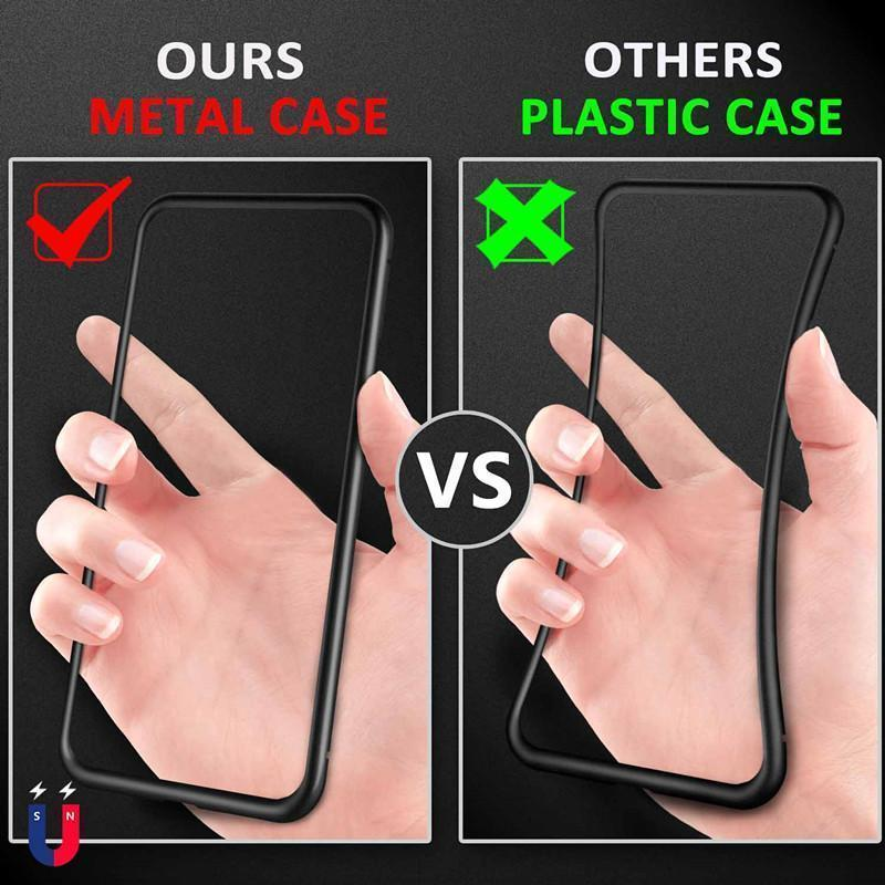 🥇( 60%OFF ) ✈Global orders arrive in 3-7 days--Magnetic Adsorption Transparent Glass Cover Phone Case