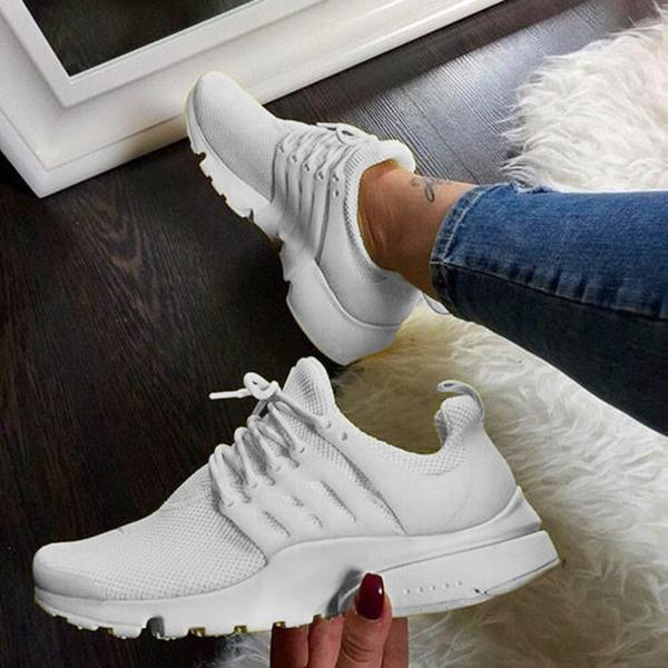 Lemmikshoes Lace-Up Woven Breathable Casual Fashion Sneakers