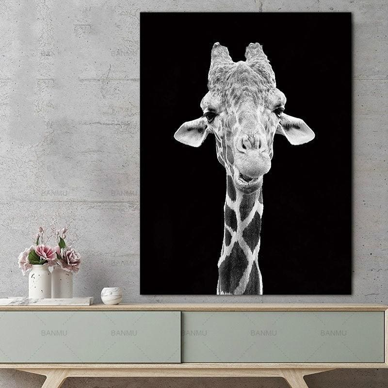 Animal Canvas Painting Lion Elephant Deer Zebra  Posters Prints Wall Pictures for Living Room Decoration Home Decor No Frame