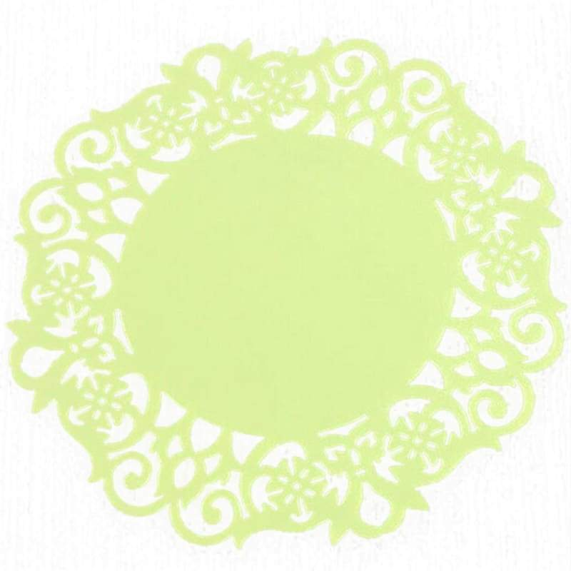 Cup mats lace flower silicone coaster insulation 1pcs