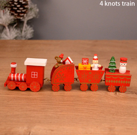 Christmas 2021 New Year Wooden Christmas Train
