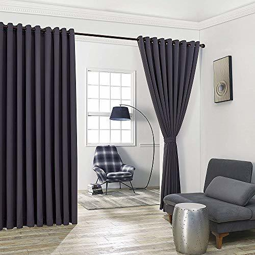 Warm Home Designs Extra Large 2 Charcoal Wall to Wall Curtains 108