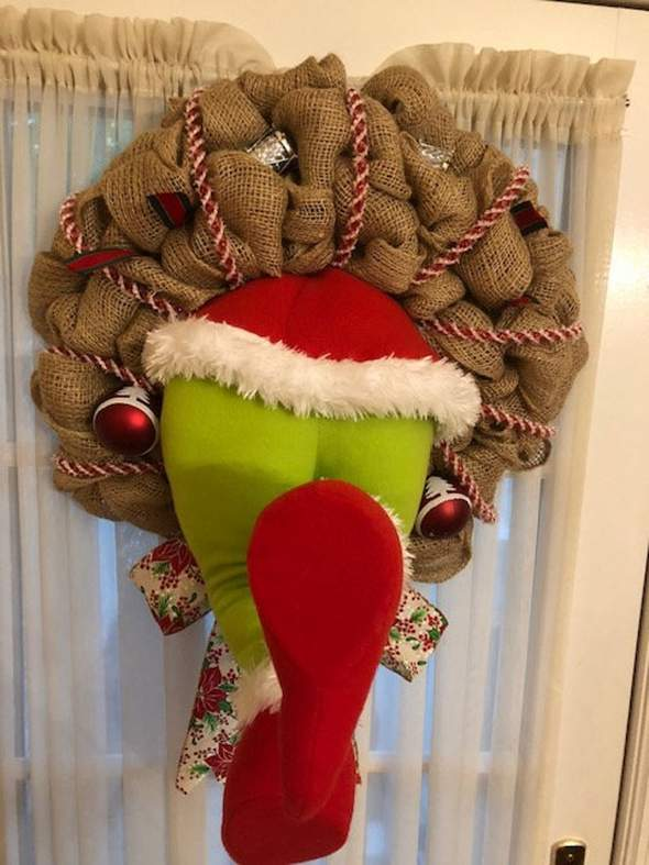 【Only 100 orders left】How the Grinch Stole Christmas Burlap Wreath