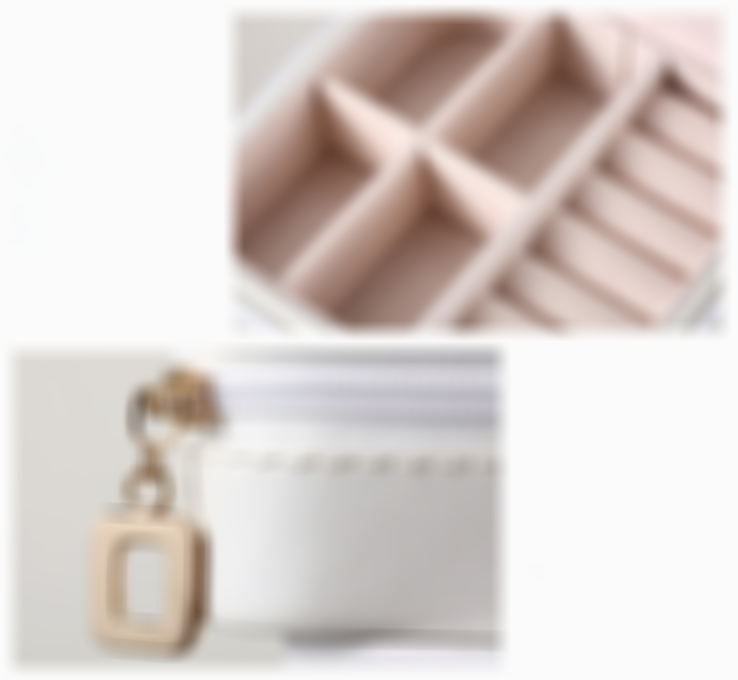 (Hot selling 50,00 items ) - Small Faux Leather Travel Jewelry Box