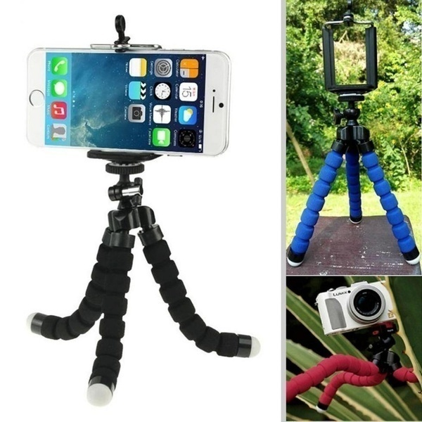 Flexible Sponge Octopus Mini Tripod With Wireless Remote Shutter For iPhone