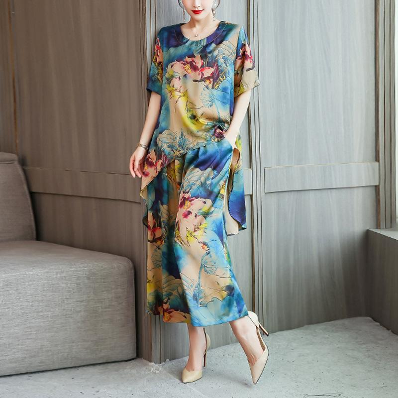 Printed two-piece suit