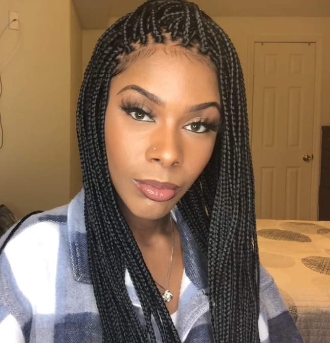 💕The BEST Braided Wig| Neat And Sleek -Lace Wig