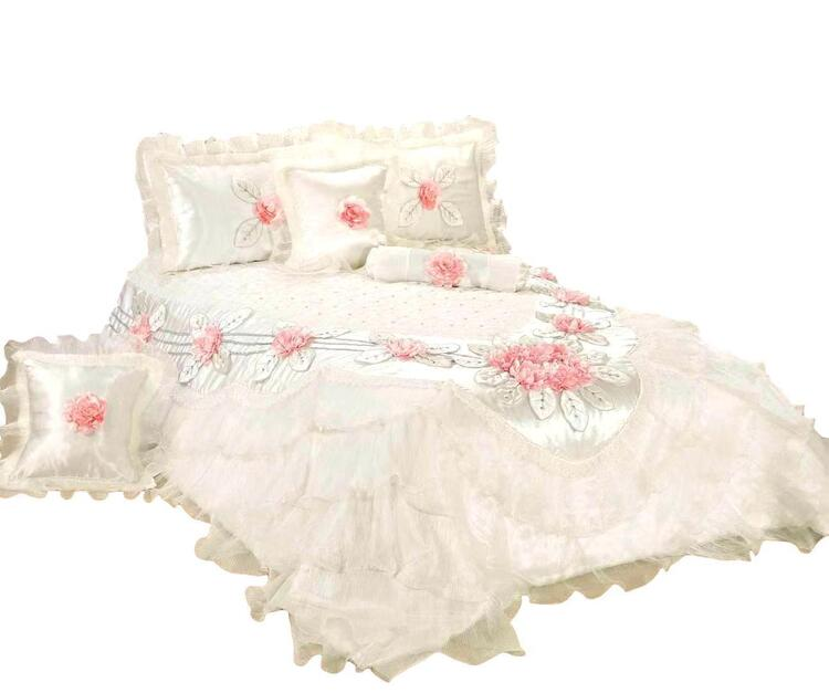 Tache Fancy Floral Delicate Rose White Luxurious Comforter Set (MA125)