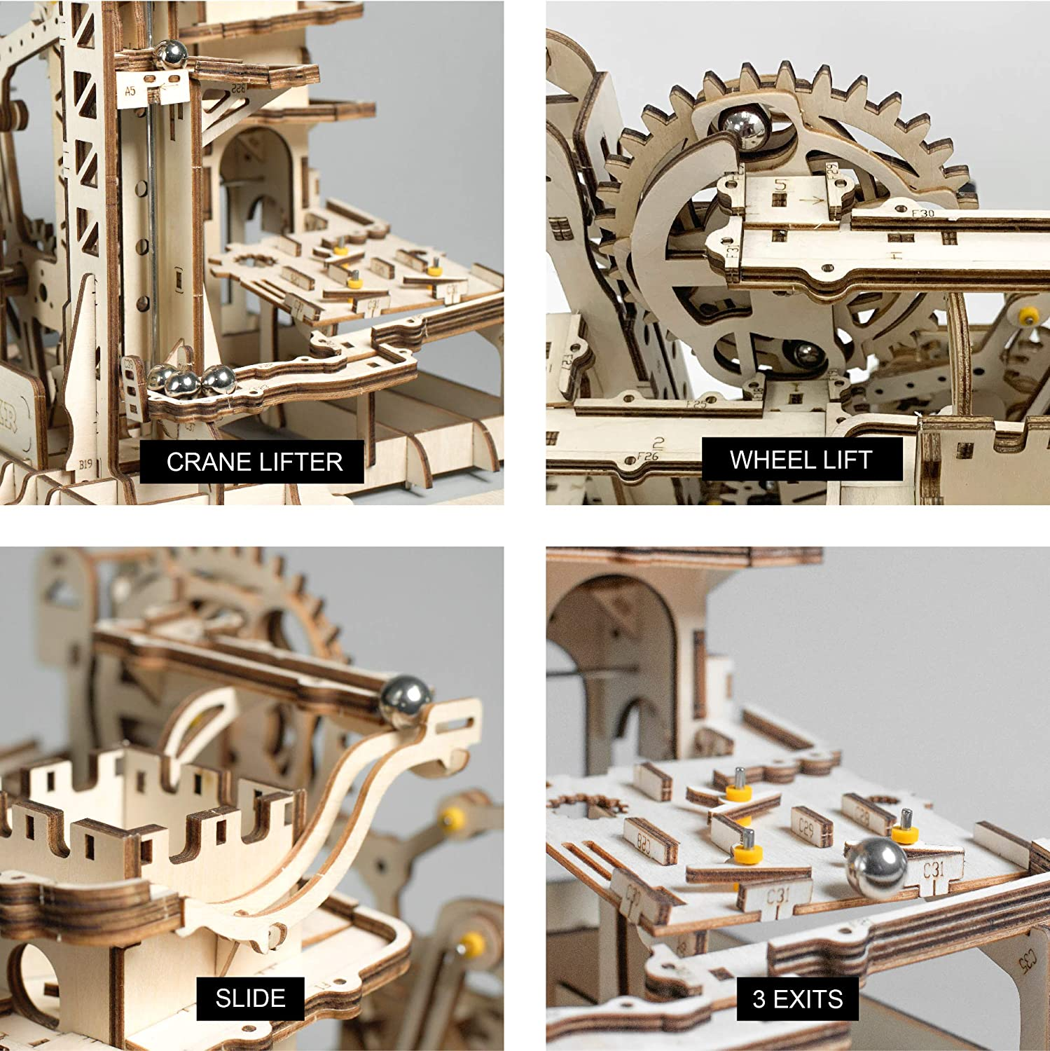 70% OFF - Super DIY Roller Coaster Wooden Model Kit