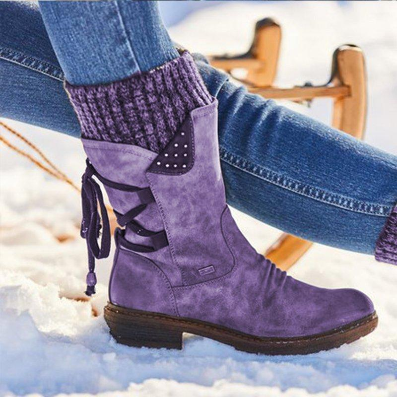 Hurry up! Sale Ends in 09:45:53.7 🔥 NEW 🔥 Winter Warm Back Lace Up Boots 💥 (2 Pairs Free Shipping)