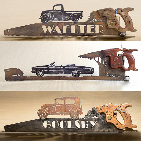 Father's Day Unique Gift&Metal Art Car Design - Wall Decor