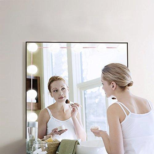 Hollywood Style LED Vanity Mirror Lights Kit with 10 Dimmable Light Bulbs For Ma