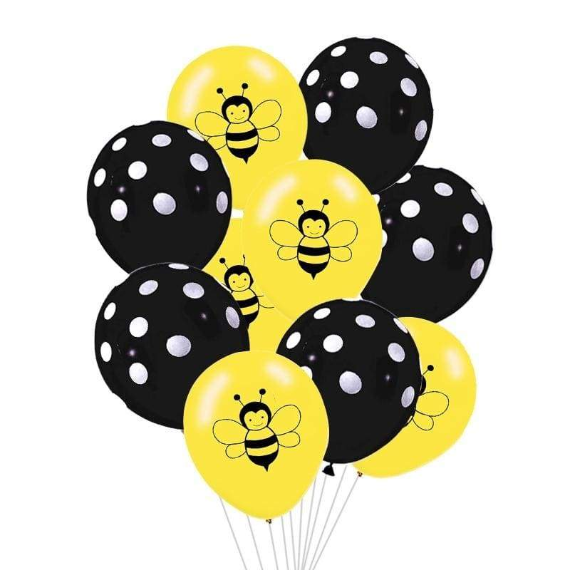 15PCS Gray Yellow 12inch Cute Animal Bee Latex Air Balloon For Wedding Birthday Party Baby Shower Decor Balloon Kids Toy Gift