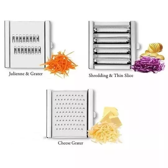 Multi-Purpose Vegetable Slicer Cuts【3 interchangeable blades】🔥Buy 2 Free Shipping🔥