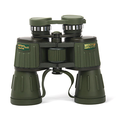 10 X 50 mm Binoculars Portable Wide Angle Night Vision in Low Light Fully Coated BAK4 Camping / Hiking Hunting Fishing Aluminium Alloy