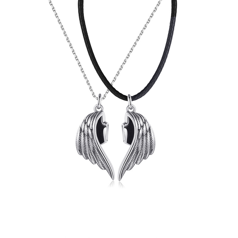 Angel and Demon Couple Necklace(buy 1 get 1 free)