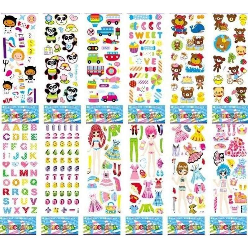 10 Sheets 21.5*7.5CM Cartoon Kids Stickers Toys Pegatinas Emoji Car-styling Lovely Reward Stickers For Children adesivo Kid