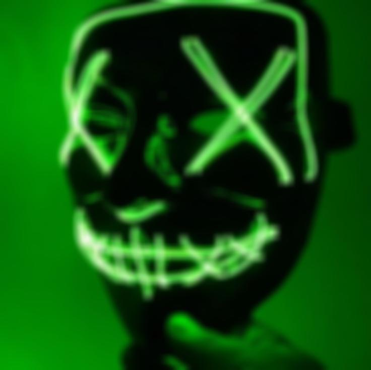 (60% Off Today!!!)Halloween-🔥Party & Rave LED Purge Mask🔥