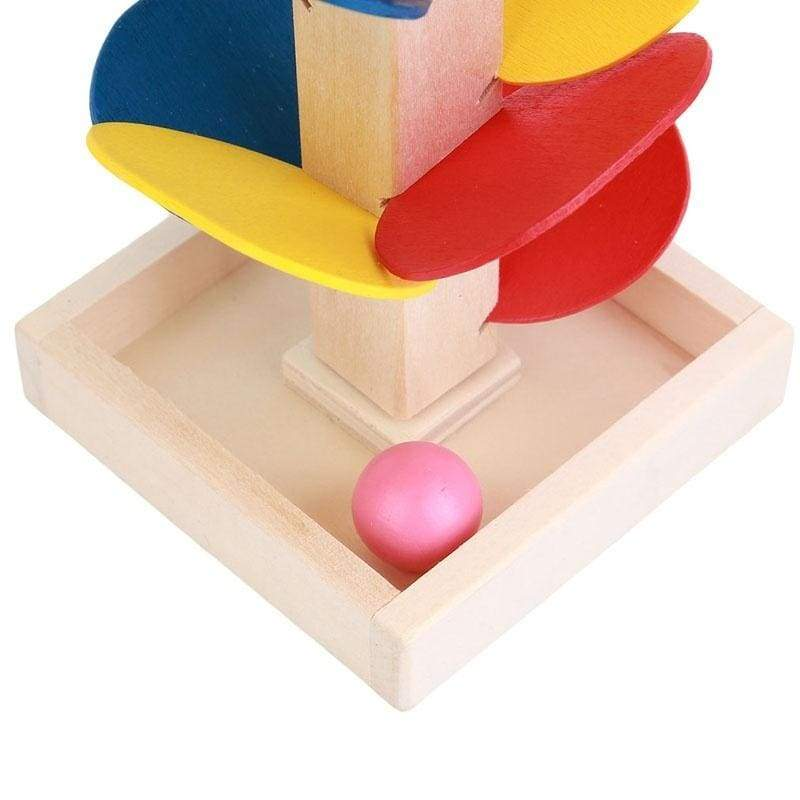 Montessori Educational Toy Wooden Tree Marble Ball Run Track Game Baby Kids Children Intelligence Education
