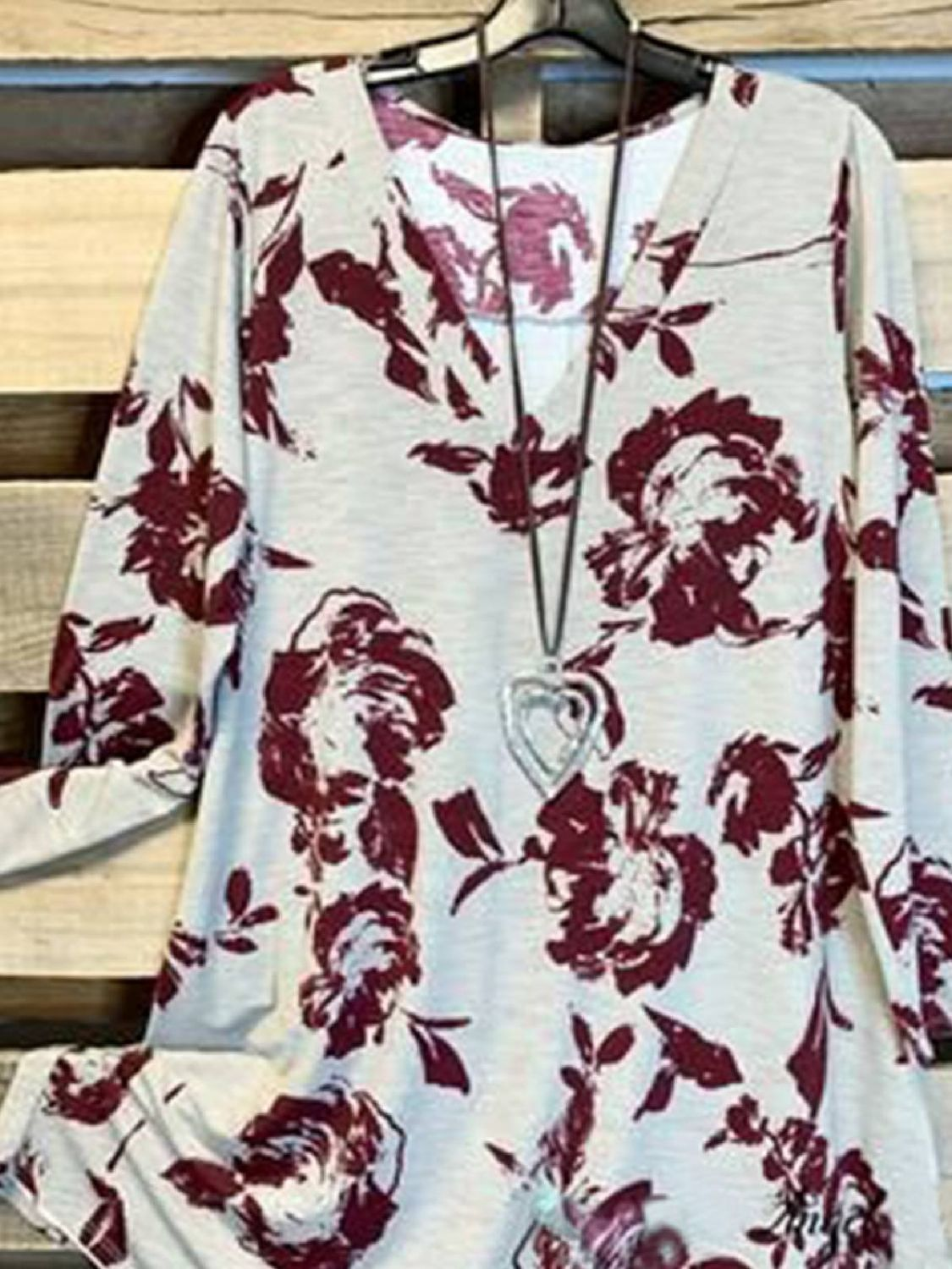 Long Sleeve V Neck Floral-Print Shirts & Tops | Tops | Mondadays Floral 1 Multicolor Women Tops Polyester Casual V Neck Long Sleeve Floral-Print Daily Tops | mondadays