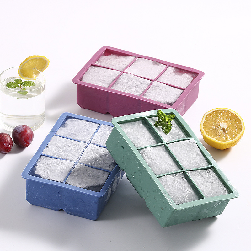 Hot Sale 3 PCS Food Grade Silicone Ice Tray Home With Lid DIY Ice Cube Mold Square Shape Ice Cream Maker Bar Kitchen Accessories 2 orders