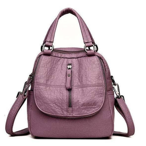 (Buy 1 Get 2 Only $24.99)Fashion Leather Multipurpose Backpack Shoulder Handbag