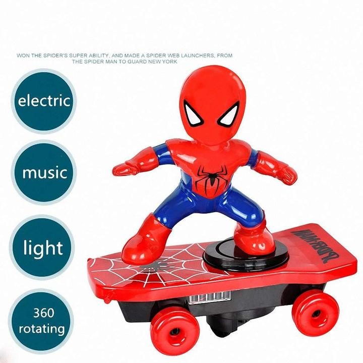 Cool running spiderman toy