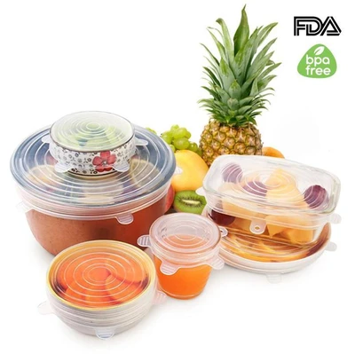 💥Early Summer Hot Sale 50% OFF💥 6 Pack Stretch & Seal Silicone Lids