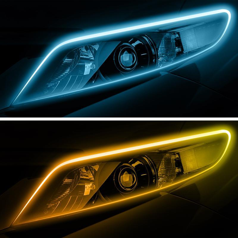 CarFitg™ Dual Color Ice Blue / Amber Daytime Running Lights 1 Pair