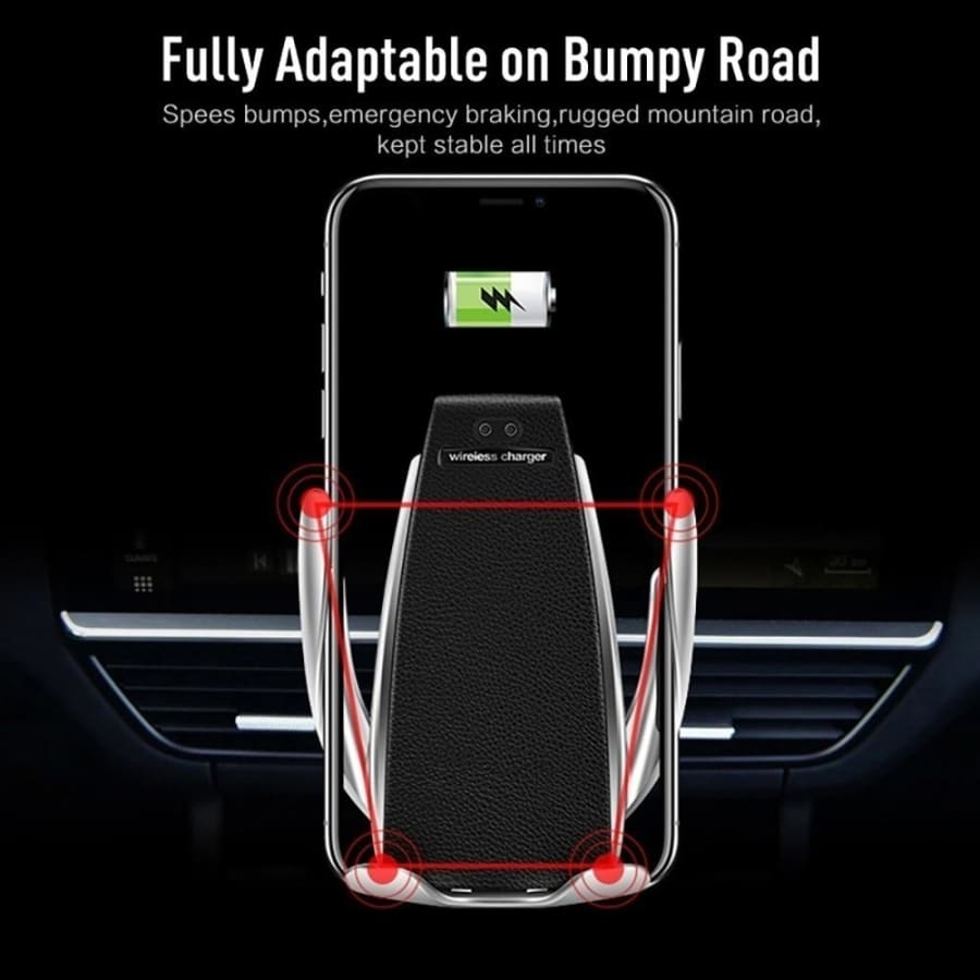2019 New Automatic Inducing Clamping Wireless Car Charger 360 Degree Rotation Charging Mount for Iphone 11 11pro Max Iphone X Xs Xr 8plus 8 Samsung S10 S9 S8 S7 S6 Note 10 9 8