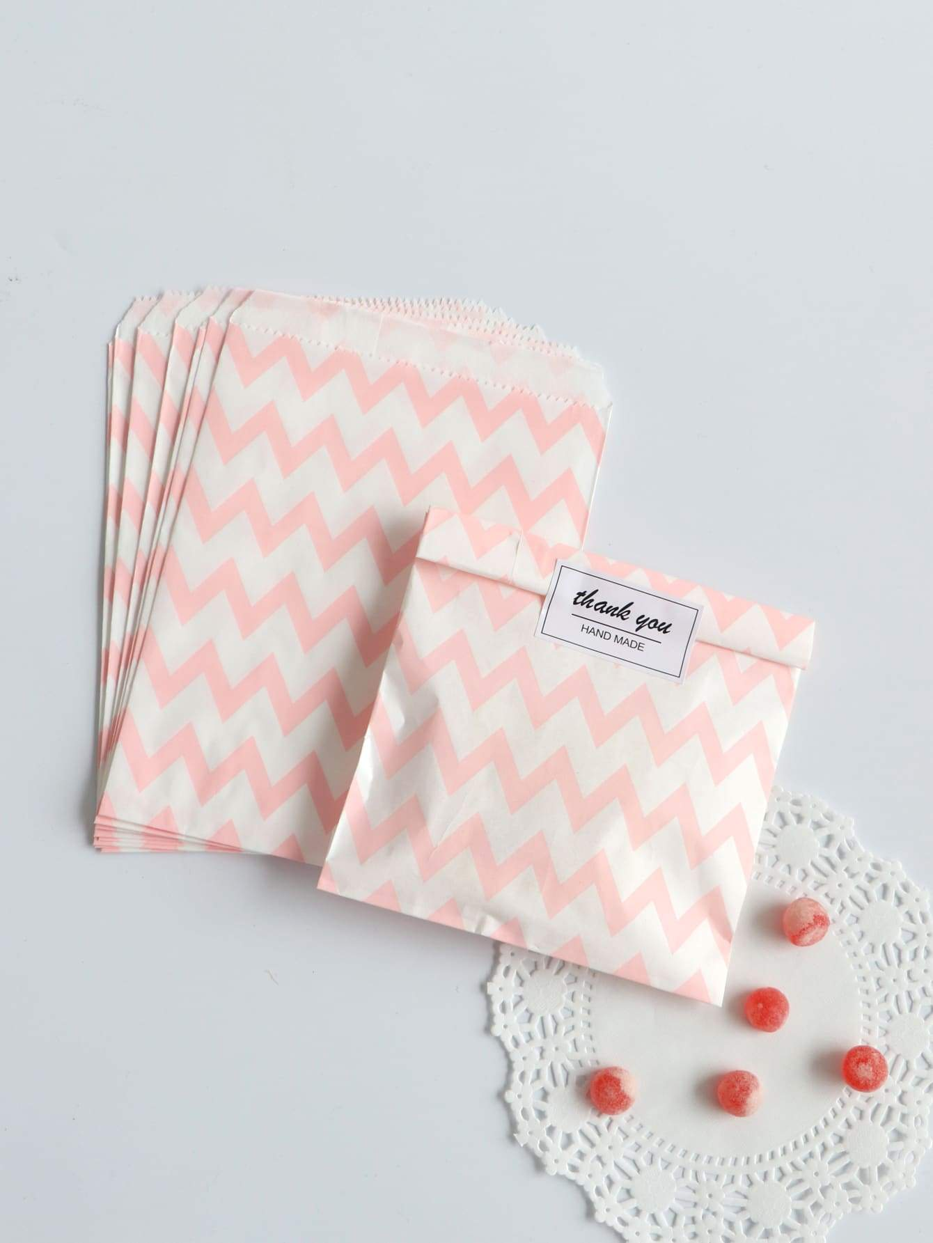 Chevron Pattern Biscuit Bag 25pcs