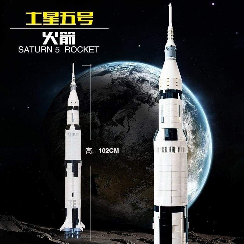 37003 Apollo Saturn V Space Launch Vehicle USA Rocket Model Building Blocks Toys For Children Compatible 10268 4999 21309