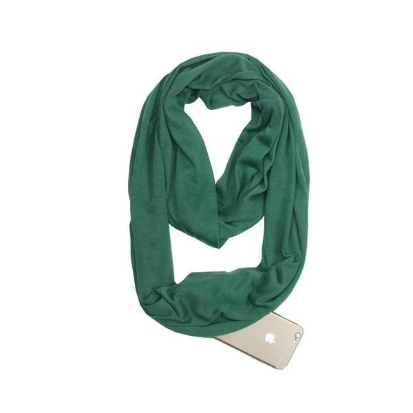 (Hot selling 50,00 items ) Multi-Use Pocket Scarf with Zippers-[70% OFF]