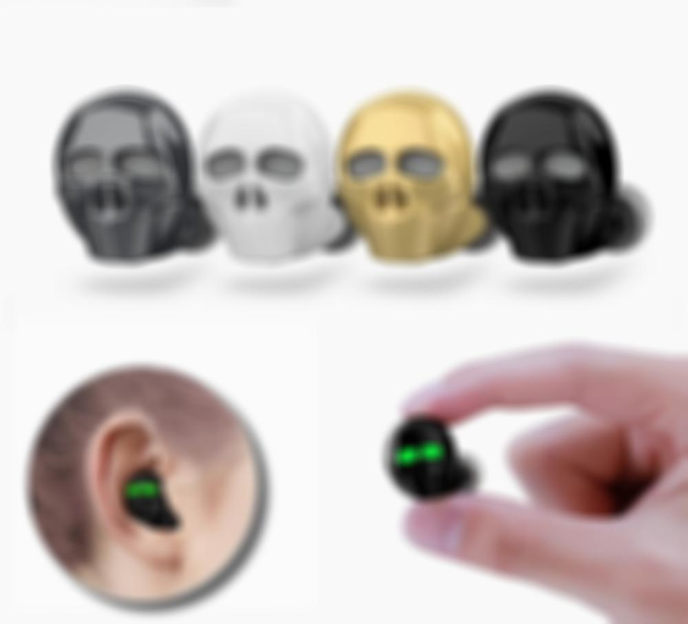 Arosetop Stereo Skull Bone Bluetooth Wireless Earphone