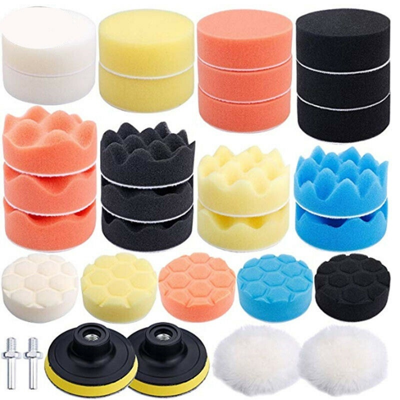 Car Care Housing Glass Buffing Waxing Polishing Sponge Pads Set with Drill Adapter