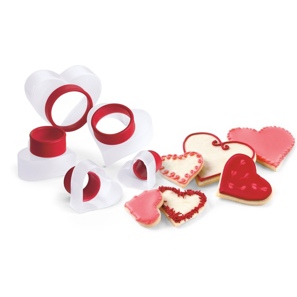 Red Cookie Cutter 5Pc