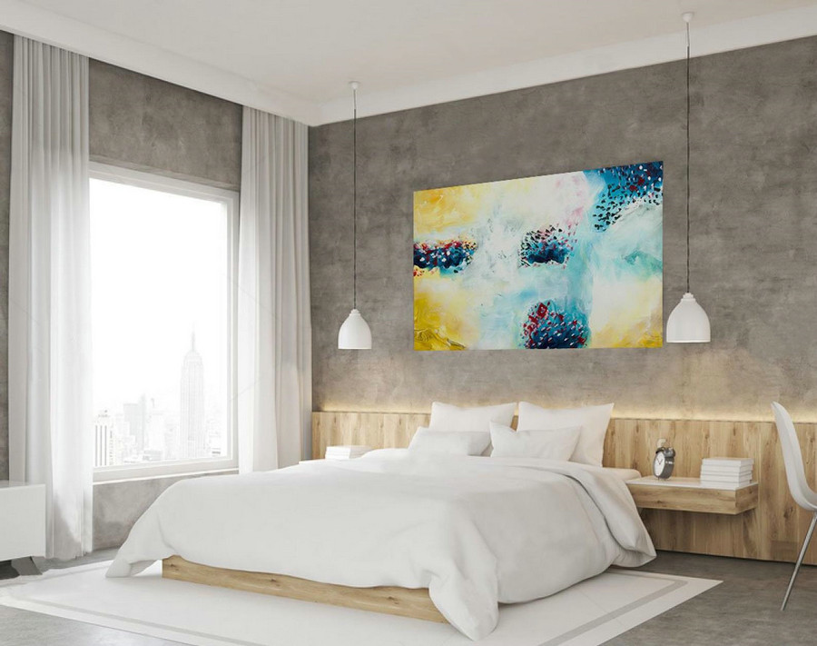 Contemporary Wall Art - Abstract Painting on Canvas, Original Oversize Painting, Extra Large Wall Art LAS030