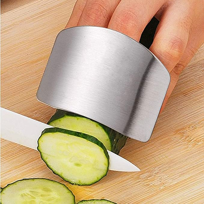 Vegetable cutting hand guard