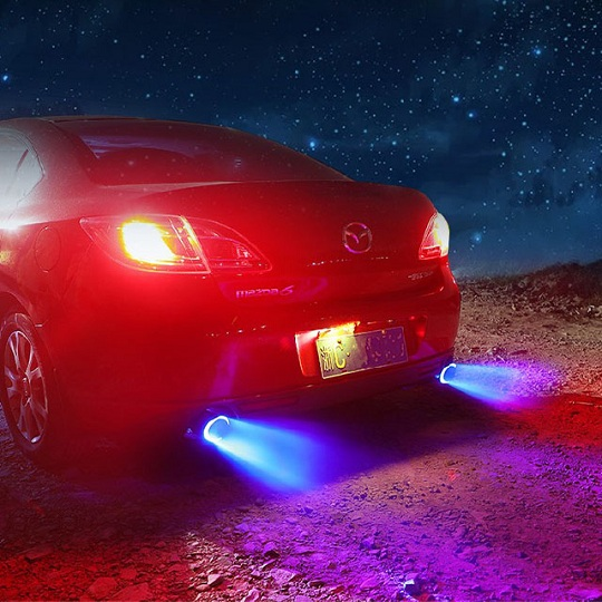 Universal Car Fire Flame LED Exhaust Tip