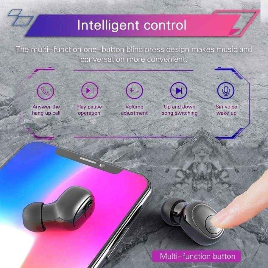 8D HiFi  Bluetooth 5.0 Stereo Wireless Earbuds  In-Ear Headset IPX7 Waterproof CVC8.0 Noise Cancelling Wireless Bluetooth Headphones Sport Waterproof Touch Control with Charging Box