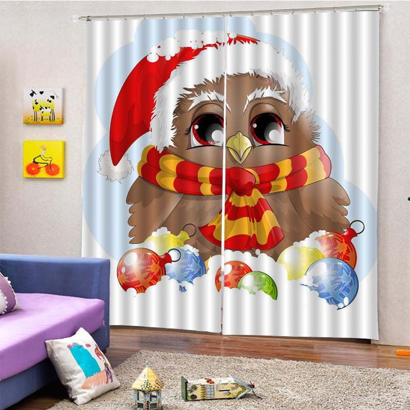5D Curtain With Ring 75cm*166cm Christmas (2pcs) Free Curtain Hook