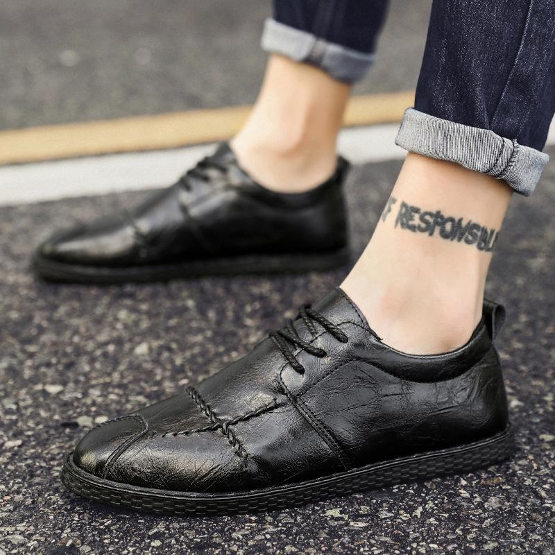 Peas shoes British men's casual shoes Japanese small leather shoes