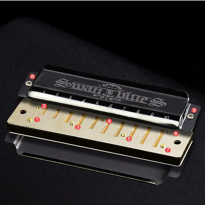 【🔥HOT SALE】Surfbame™Blues Harmonica With Case