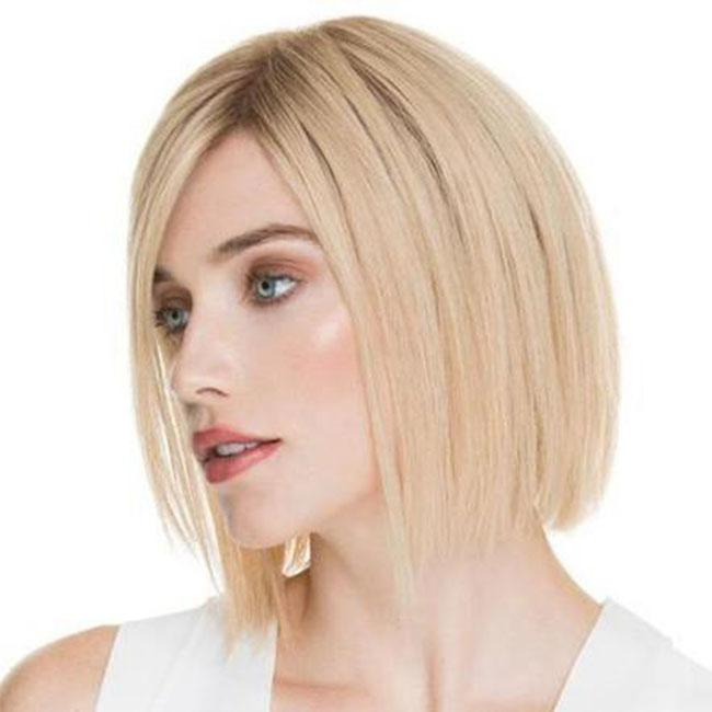 KAMI 093 Blonde Straight Bob Wigs Lovely Layered Chin Length Synthetic Wig